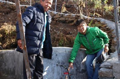 Le projet de l'eau potable au village Barpark.